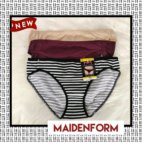 e558d3f78e12 Maidenform Intimates & Sleepwear | 3pk Cotton Bikinis | Poshmark